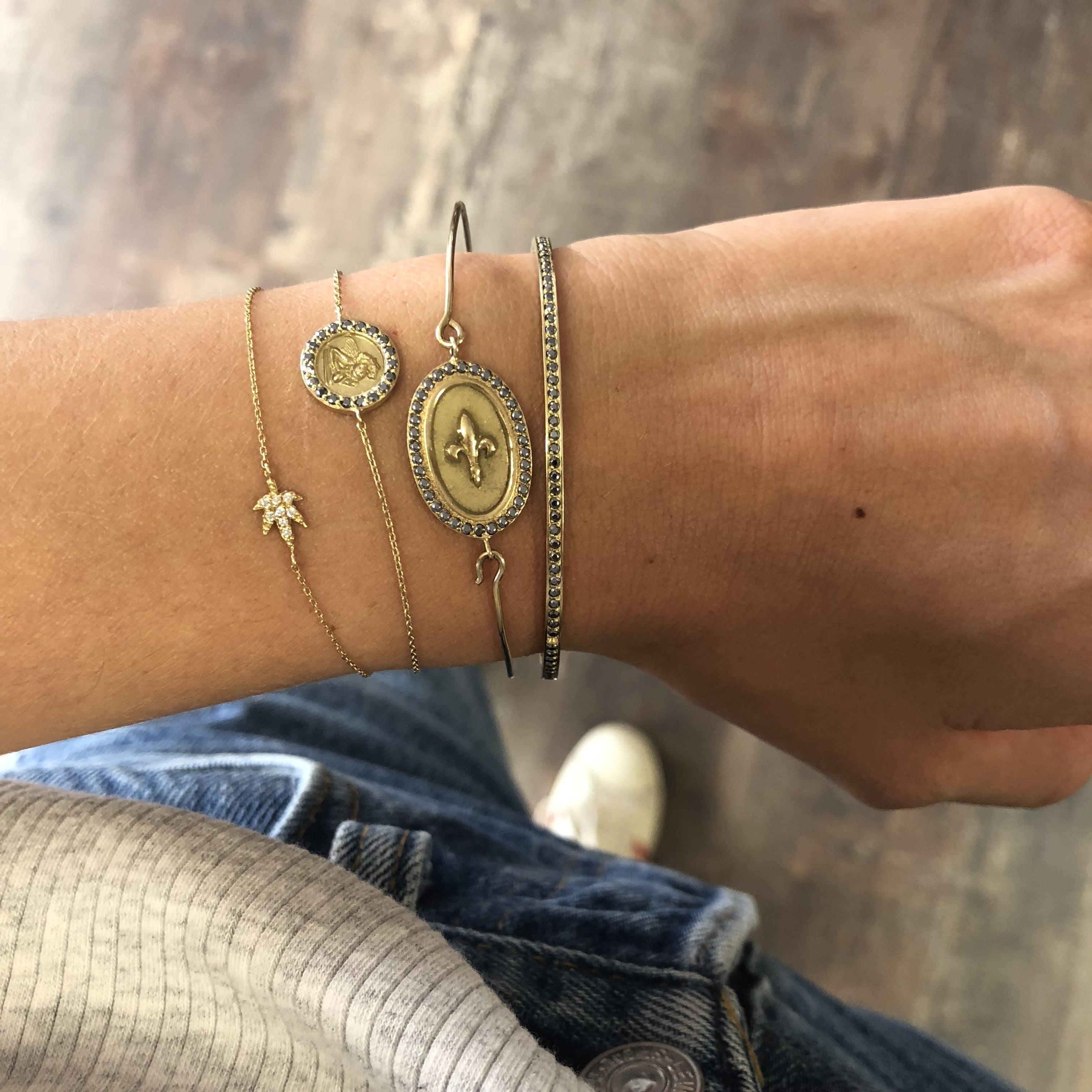 Bracelet médaille ronde - Ange Raphaël